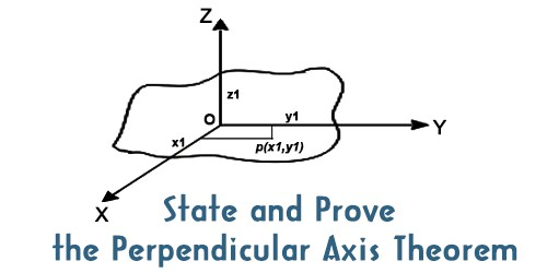 State and Prove the Perpendicular Axis Theorem