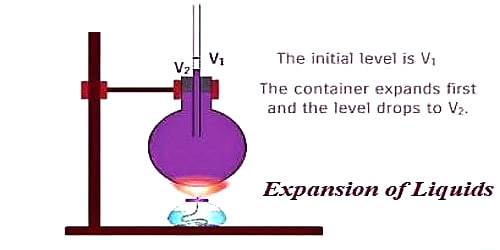 Differentiate Real and Apparent Expansion of Liquids