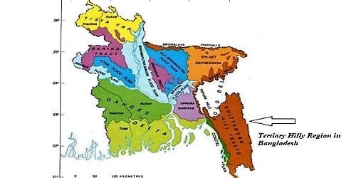 Tertiary Hilly Region in Bangladesh
