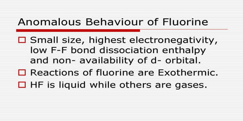 Explain Anomalous Nature of Fluorine