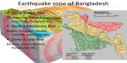 earthquake zones in bangladesh Status of earthquakes bangladesh is surrounded by the regions of high seismicity which include the himalayan arc and shillong plateau in the north, the burmese arc, arakan yoma anticlinorium in the east and complex naga-disang-jaflong thrust zones in the northeast it is also the site of the dauki fault system along with numerous.