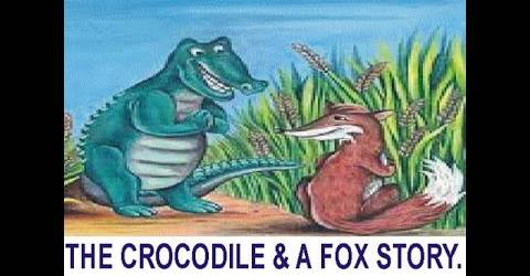 Moral Story: The cunning fox and the foolish crocodile