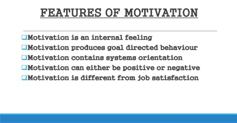 Features of Motivation in in Directing Management