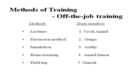 Training Method