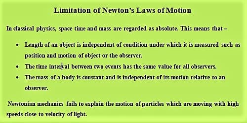Limitation of Newton's Laws of Motion 1
