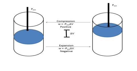 Work of Expansion in Thermodynamics