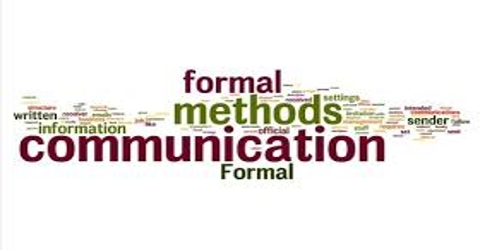 Meaning of Formal Communication