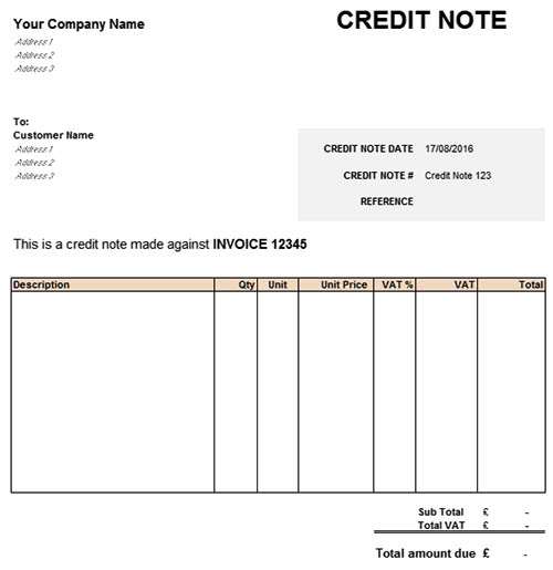 Credit note definition and characteristics qs study credit notes are issued when there is a descending revision in prices of goods or services supplied it can be compared to a negative invoice that has the altavistaventures Images