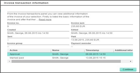Define Invoice for Recording of Transactions