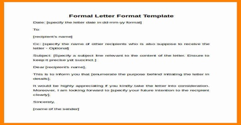 Meaning of Official Letter