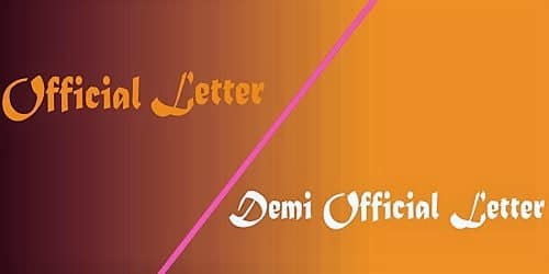Difference between Official and Demi-official Letter