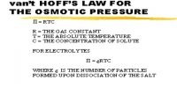 Van't Hoff's Laws of Osmotic Pressure