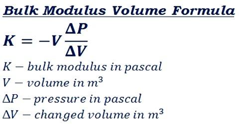 Significance Bulk Modulus