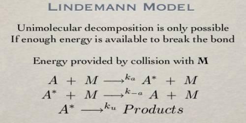 Unimolecular Reaction: Lindemann's Mechanism