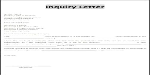 Contents Or Elements Of Business Status Inquiry Letter  Qs Study