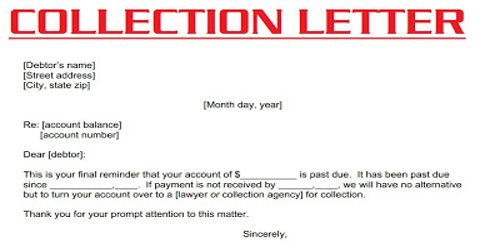 Meaning of Collection Letter
