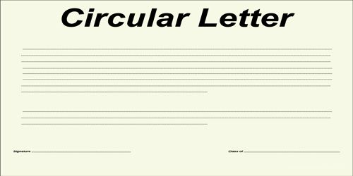 Kinds of Circular Letter