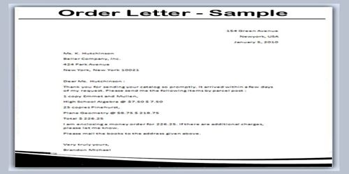 Meaning Of Order Letter  Qs Study