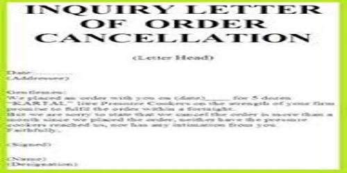 Meaning of Order Cancellation Letter