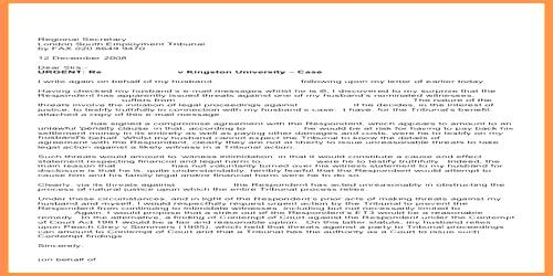 Appeal and Urgency Letter