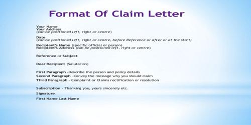Characteristics of Good Claim Letter