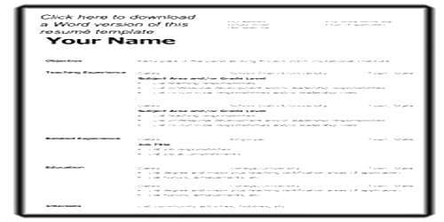 Format of Resume