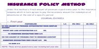Insurance Policy Method of Calculating Depreciation