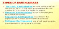 Types of Earthquakes