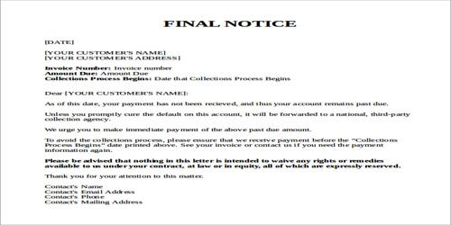 Ultimatum and warning letter qs study ultimatum and warning letter altavistaventures Images