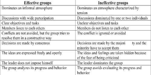 Difference between Effective Groups and Ineffective Groups
