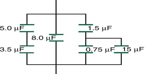 Parallel Combination of Equivalent Capacitance