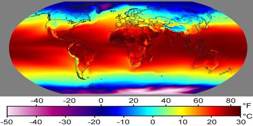 Temperature at the Earth's Surface