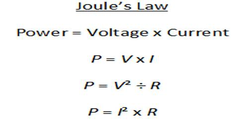Joule's Laws of Heat