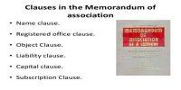 Alteration of Memorandum of Association
