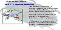 Jet Streams and Upper Air Circulation in the Summer Season