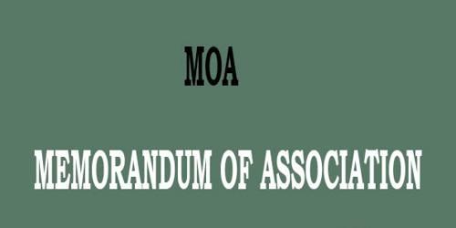 Memorandum of Association