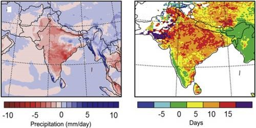 Regional Variations in Precipitation in Indian Subcontinent
