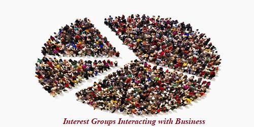 Which Interest Groups Interacting with Business?