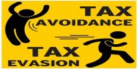 Distinguish between Tax Evasion and Tax Avoidance