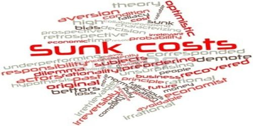How Sunk Cost is considered irrelevant to decision about the future?