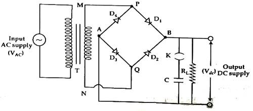 experiment  full wave rectification  using bridge rectifier