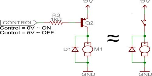 Use of Transistor as switch