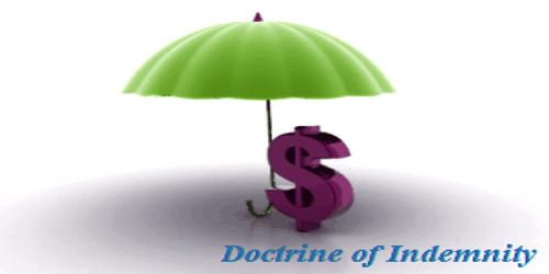 Doctrine of Indemnity