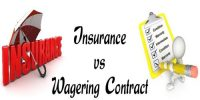 Differentiate between Insurance contract and Wagering contract