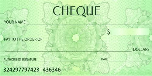Specimen of Cheque