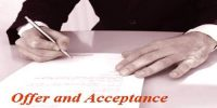 Distinguish between Offer and Acceptance