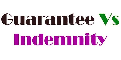 Difference between Indemnity Contract and Guarantee Contract