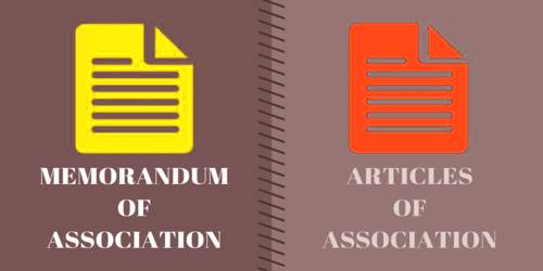 Confound between Memorandum and Articles of Association