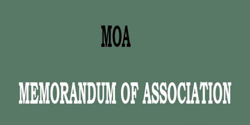 Contents of a Memorandum of Association