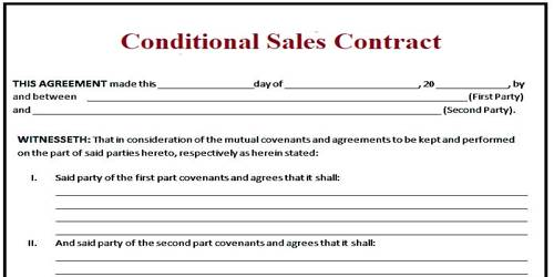 Conditional Sales Contract